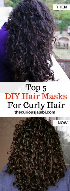 Get rid of dry, frizzy curls with 5 easy, DIY hair masks you can make at home!
