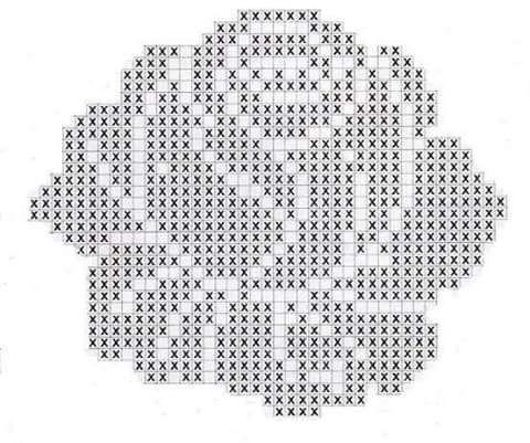 Gráfico para confeccionar um lindo tapete de crochê, modelo de uma rosa, vejam mais (9543)