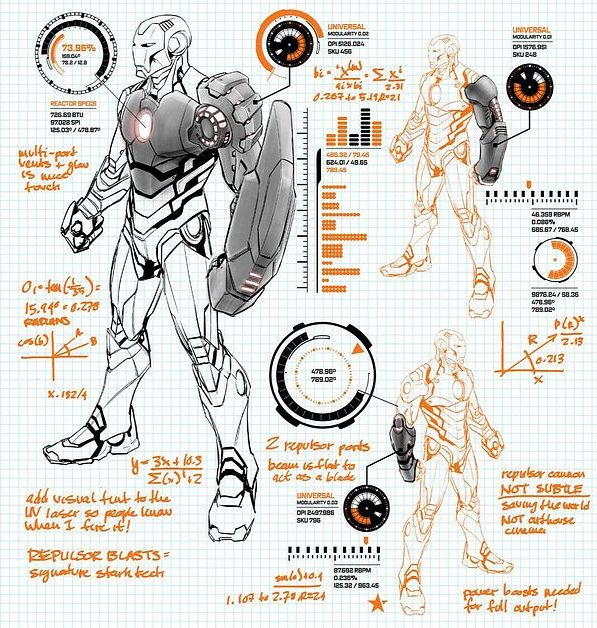 iron man schematics  ironman modular suit by carlo paguyan [ marvel now: iron ... #12