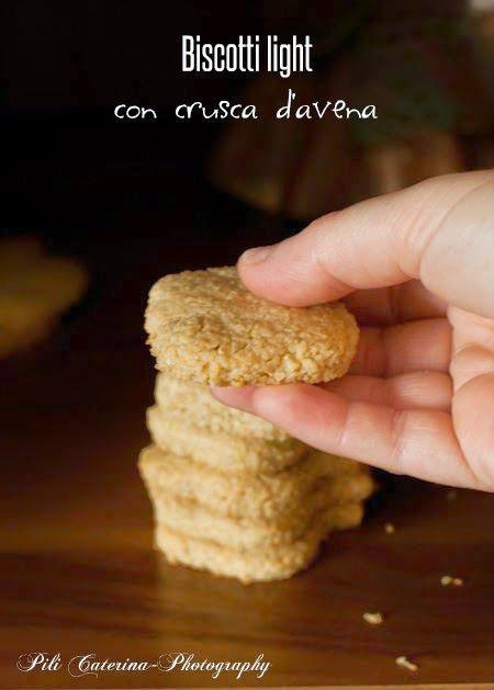 Biscotti light con crusca d'avena,ricetta senza burro
