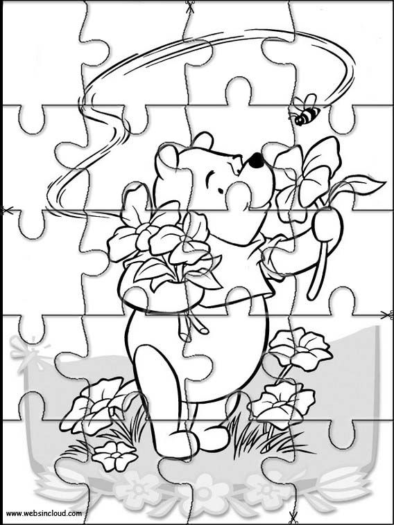 Printable jigsaw puzzles to cut out for kids Winnie the Pooh 19 Coloring Pages