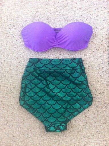 mermaid high-waisted bikini