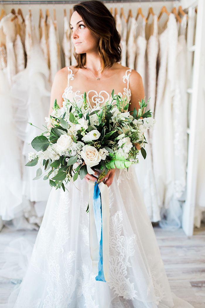 Natural Greenery Bouquet with Blue Silk Ribbons    #wedding #weddingideas #weddings #nautical #neutral #bohemianwedding #bohobride #weddingdress #bride #bridalstyle #weddingdresses #weddingfashion #bouquet #weddingflowers #bridalbouquet