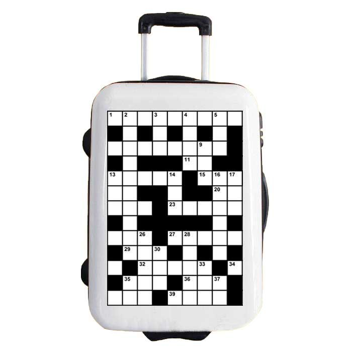 CROSSWORD model, sticker for suitcases, 2DIFFER