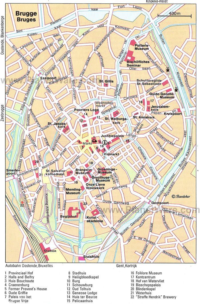 Les 25 meilleures id es de la cat gorie bruges map sur - Office du tourisme bruges belgique adresse ...
