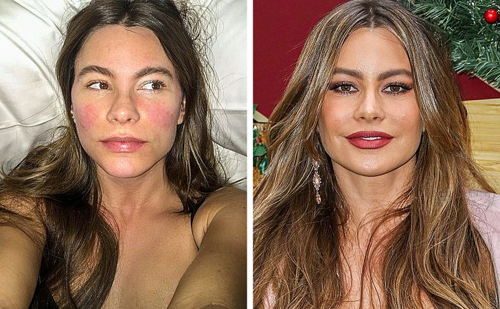 24 Celebrities With No Makeup On Without Makeup Sofia Vergara Beauty