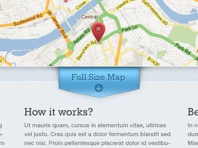 Dribbble - Full Size Map Button by Piotr Kwiatkowski
