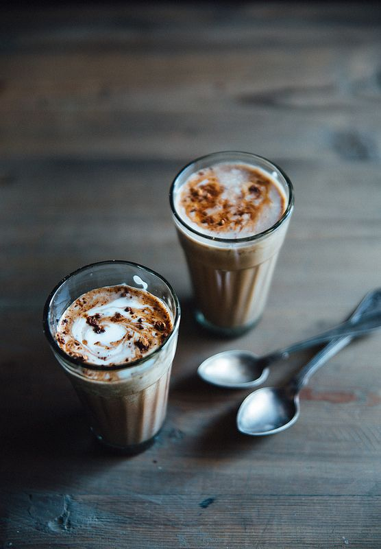 Almond butter hot chocolate.