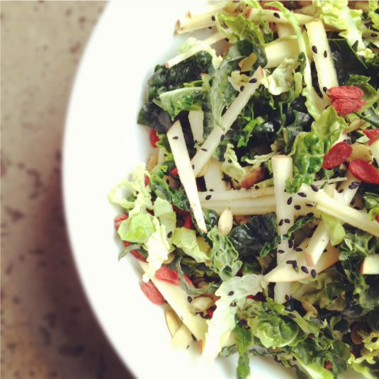 Cabbage, Kale, Apple Chop & Avocado Dressing from @Juli Novotny of ...