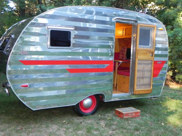 1955 Comet Vintage Travel Trailer Camper, Retro, Restomod, Aluminum in RVs & Campers | eBay Motors