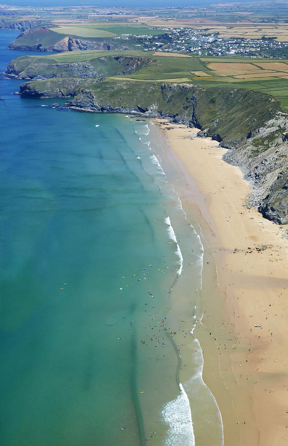 Aerial View Of Watergate Bay