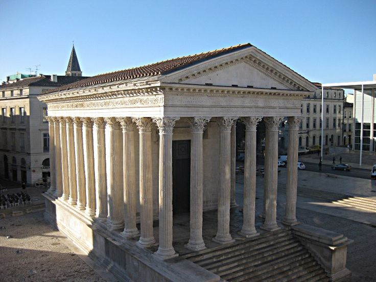 35 best roman ruins france images on pinterest roman - Maison carree nimes ...