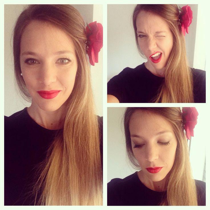 El rojo como protagonista! #redlips #look #casamiento #moda #maquillaje