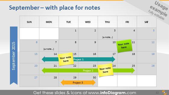 Plan notes on calendar.