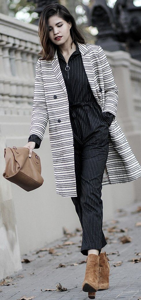 #fall #street #style | Stripes + Suede