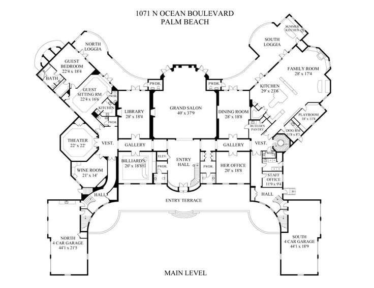 1164 best matched up complete floor plans images on pinterest architecture floor plans and - Mansion house plans consummate refinement ...