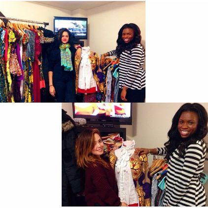 Head Designer Catherine Addai-Boadu and her 2014 interns !