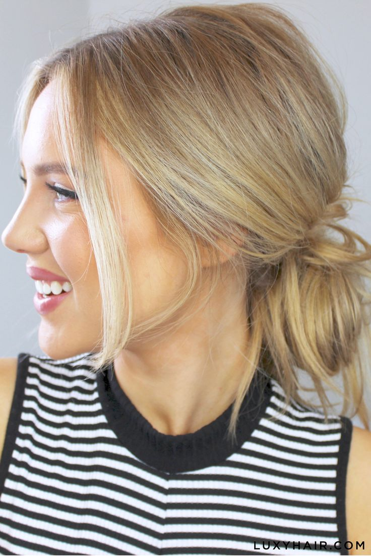 Lazy day? Don't have a lot of time to get ready but still want to look cute and effortless? Our beautiful friend Elanna - @ellepearls, shows three different ways on how to create cute and easy messy buns. Elanna wears a few wefts of her Dirty Blonde Luxy Hair Extensions for extra volume and dimension in her hair and to add a little oomph. #luxyhair