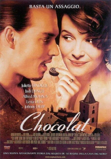 Chocolat - Johnny Depp and chocolate - need I say more? Actually the movie has a great cast of characters and storyline too - watch it!