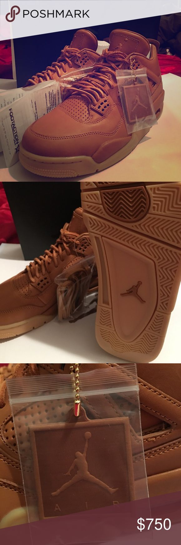 Exclusive Jordan's 4 Selling a brand new pair of Jordan's 4 only few pairs came out in this wheat color hard to find all authentic no A.U or other stuff comes with a receipt Jordan Shoes Sneakers