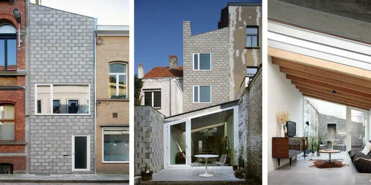 Arkitektene tegnet et smart hus på den smale tomten.