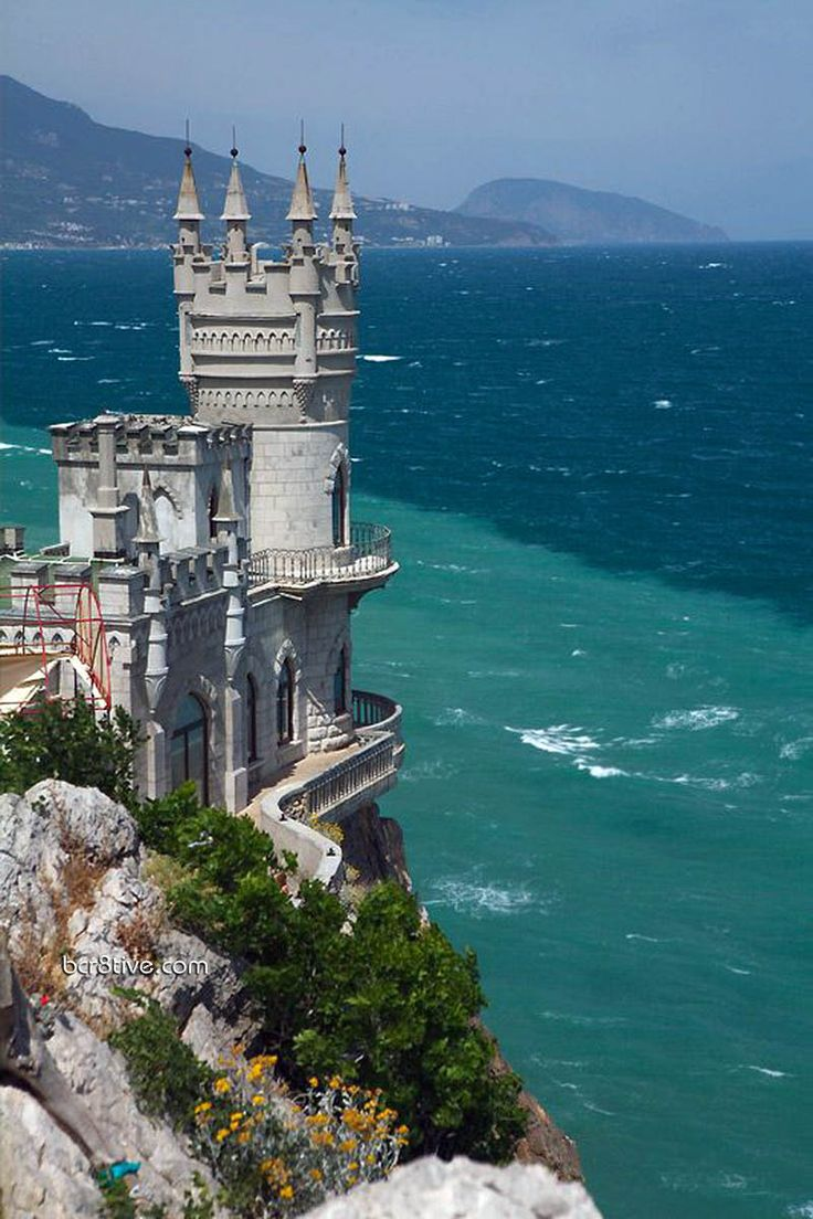 The Swallow's Nest Castle aka the Castle of Love. Located between Yalta and Alupka on the Crimean peninsula in southern Ukraine.