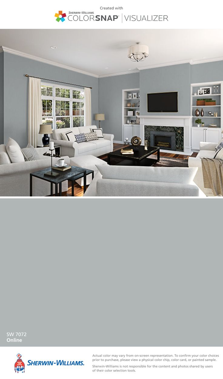 I found this color with ColorSnap® Visualizer for iPhone by Sherwin-Williams: Online (SW 7072).