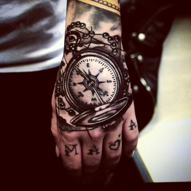 #손등타투#리얼타투 #Mogly #강지민 #tattoos #handtattoo #나침반타투##compass #compasstattoo