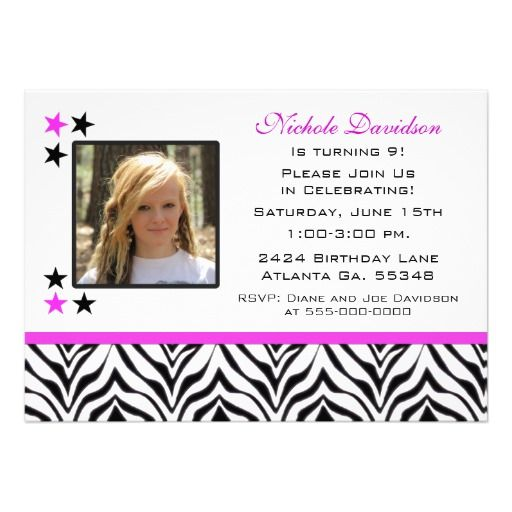 17 Best Images About 9th Birthday Party Invitations On