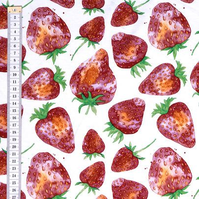 Mansikat - Strawberry -jersey, design by Outi Santaniemi