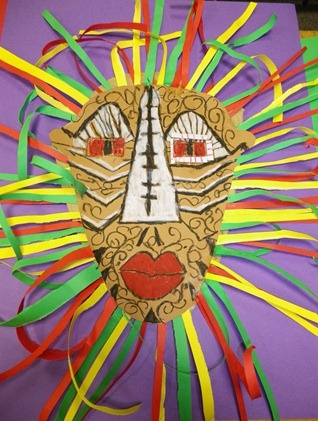 Mascaras Africanas con cartonDe Artists, Africanas Con, Crafts Ideas, Con Cartons, Art Africanas, Global Art, Carnaval Disfress, Mascaras Africanas, Class Art
