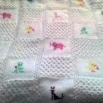 Tunus Işi Yeni Bebek Battaniye Modelleri