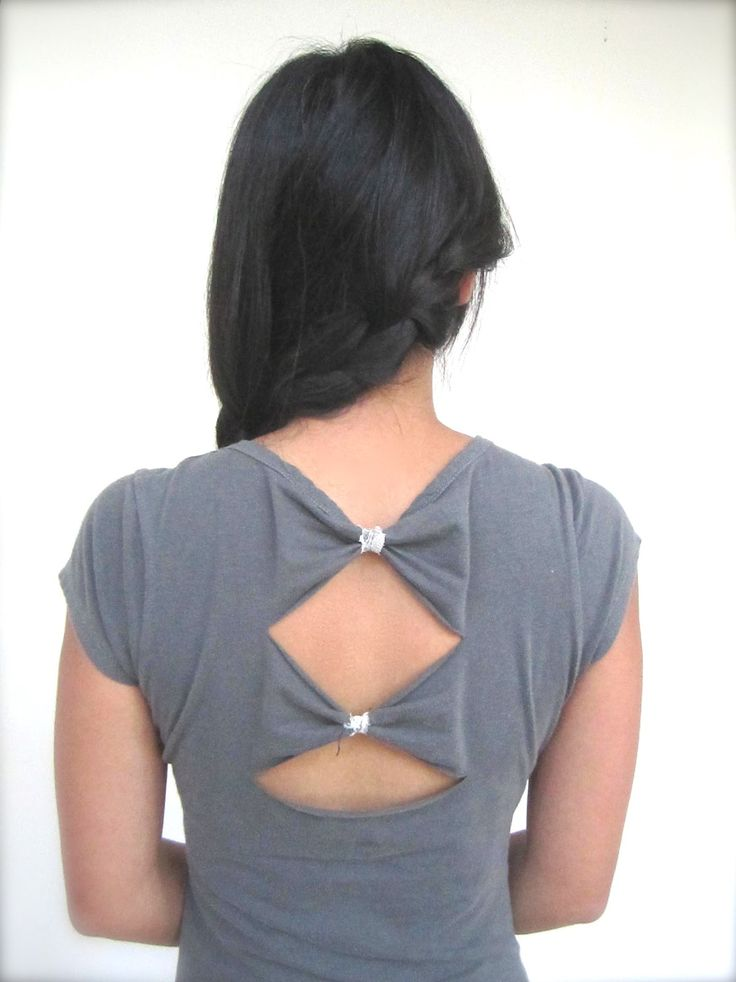 Another way to make an easy bow back. No sewing