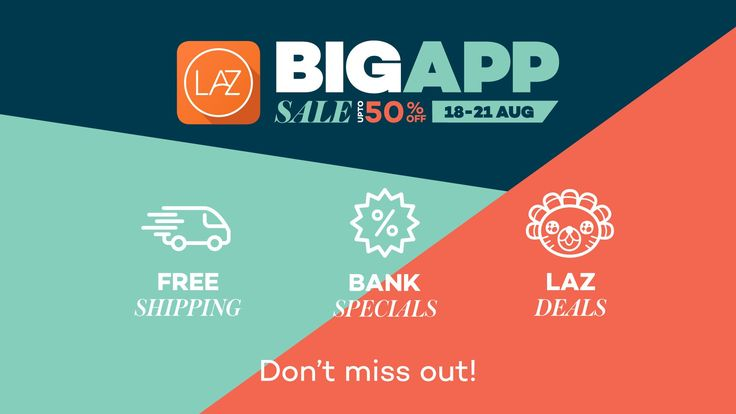 Big App Sale | Up to 50% Off | Shop on Lazada App!