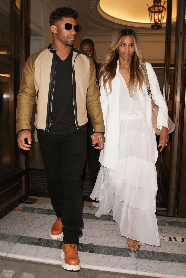 Newlyweds Ciara and Russell Wilson Glow During Their First Outing as Husband and Wife from InStyle.com
