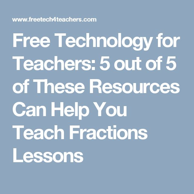 Free Technology for Teachers: 5 out of 5 of These Resources Can Help You Teach Fractions Lessons