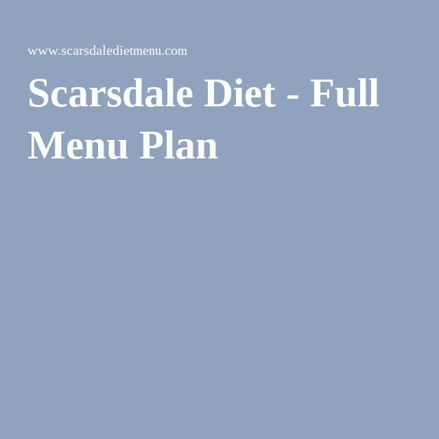 Scarsdale Diet - Full Menu Plan