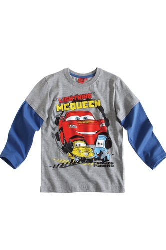 $11.50Boy's Kids Disney Cars Official Longsleeve T Shirt Sz Age 3 8 Grey | eBay