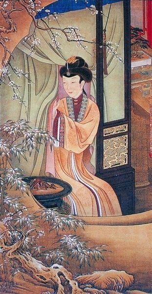 "十二美人圖。雍親王題書堂深居圖屏『烘爐觀雪』,1709-1723。""The Twelve Beauties,"" ""Twelve Concubines of the Emperor Yongzheng""#12"