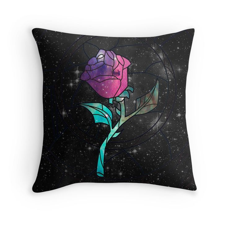 Stained Glass Rose Galaxy Throw Pillow - Available Here: http://www.redbubble.com/people/rapplatt/works/9399181-stained-glass-rose-galaxy?p=throw-pillow&ref=artist_shop_grid