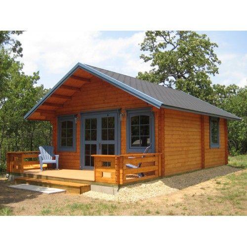 3 room cabin kit with loft homes pinterest cabin for Log garage kits with loft