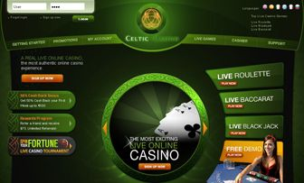 After reviewing many Live Casinos, we have never had the chance of reviewing a live casino such as Celtic Casino with a main page making you feel as if you are inside the casino game itself. At the first instant, we found ourselves discovering what li ...
