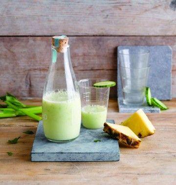 Photo de la recette : Smoothie ananas concombre