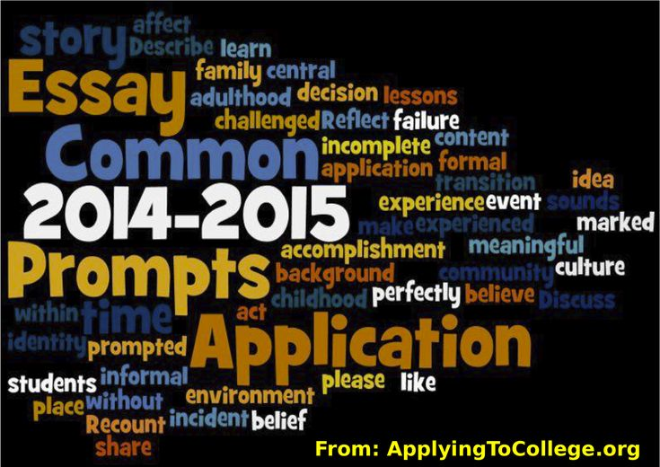 2014 common essay prompts