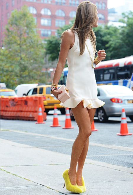 love that flippy number. AdR in NYC. #AnnaDelloRusso