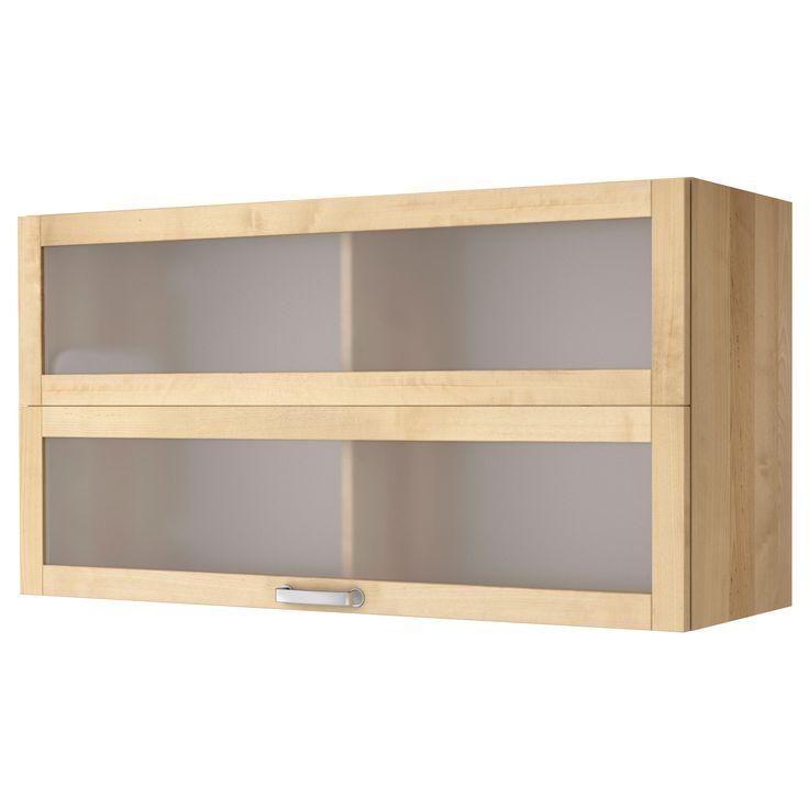 Wonderful Accroche Cle Mural Ikea #7: VÄRDE Glass-door Wall Cabinet - Birch - IKEA. To Replace Upper Shelf In