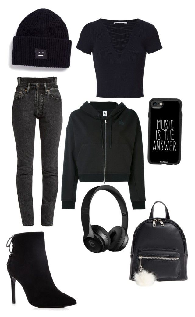 Demonia by niko-arce-olate on Polyvore featuring polyvore, fashion, style, NIKE, T By Alexander Wang, Vetements, Charles David, BP., Acne Studios, Casetify and clothing