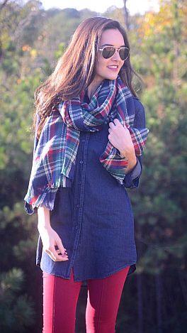 ShopBlueDoor.com: The denim tunic that puts all other denim tunics to shame! $64