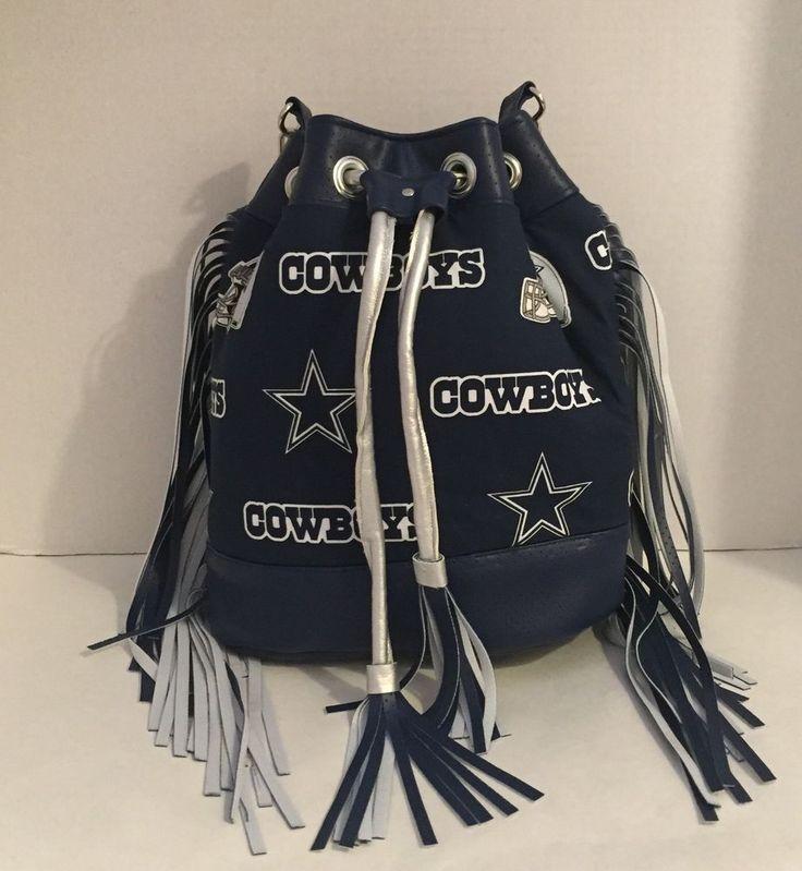 Dallas Cowboys Custom Made Bucket Shoulder Handbag With Tassels #JustBagMe #DallasCowboys