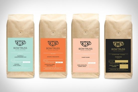 Bowtruss Coffee packaging by louise